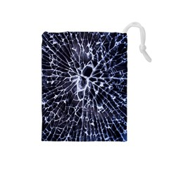 Shattered Drawstring Pouch (medium) by WensdaiAmbrose