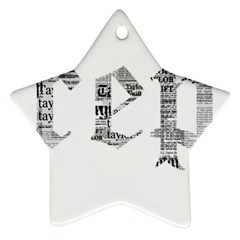 Taylor Swift Star Ornament (two Sides) by taylorswift