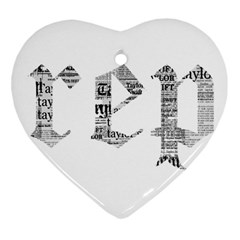 Taylor Swift Heart Ornament (two Sides)