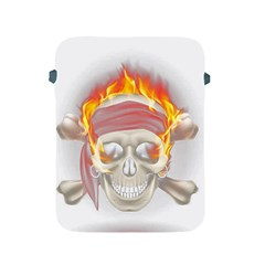 Fire Red Skull Apple Ipad 2/3/4 Protective Soft Cases