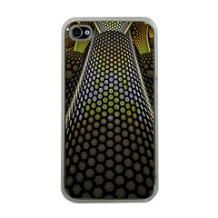 Fractal Hexagon Geometry Hexagonal Apple Iphone 4 Case (clear) by Mariart