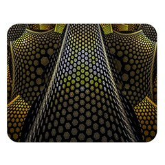 Fractal Hexagon Geometry Hexagonal Double Sided Flano Blanket (large)  by Mariart