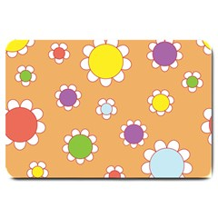 Floral Flowers Retro Large Doormat