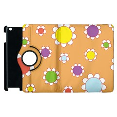 Floral Flowers Retro Apple Ipad 2 Flip 360 Case by Mariart