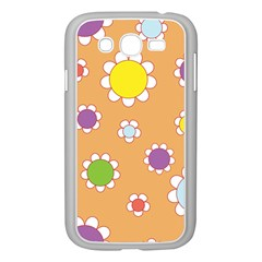 Floral Flowers Retro Samsung Galaxy Grand Duos I9082 Case (white)