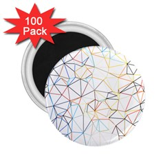 Geometric Pattern Abstract Shape 2 25  Magnets (100 Pack)  by Mariart