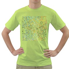 Geometric Pattern Abstract Shape Green T Shirt by Mariart