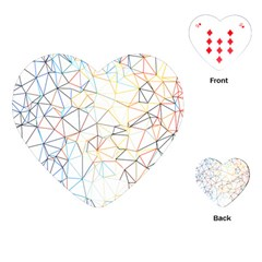 Geometric Pattern Abstract Shape Playing Cards (heart) by Mariart