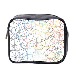 Geometric Pattern Abstract Shape Mini Toiletries Bag (two Sides)