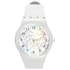 Geometric Pattern Abstract Shape Round Plastic Sport Watch (m)