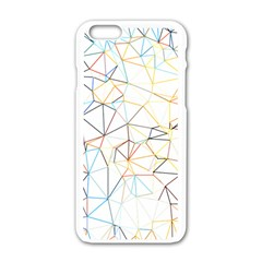 Geometric Pattern Abstract Shape Apple Iphone 6/6s White Enamel Case