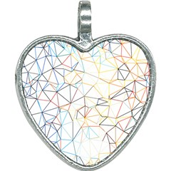 Geometric Pattern Abstract Shape Heart Necklace