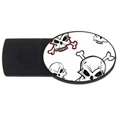 Illustration Vector Skull Usb Flash Drive Oval (2 Gb)