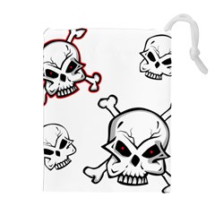 Illustration Vector Skull Drawstring Pouch (xl) by Mariart