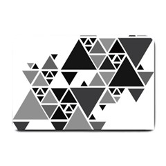 Gray Triangle Puzzle Small Doormat