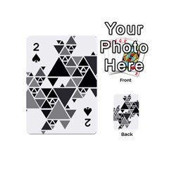 Gray Triangle Puzzle Playing Cards 54 (mini) by Mariart
