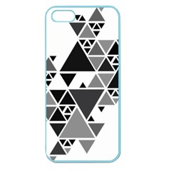 Gray Triangle Puzzle Apple Seamless Iphone 5 Case (color)