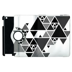 Gray Triangle Puzzle Apple Ipad 2 Flip 360 Case by Mariart
