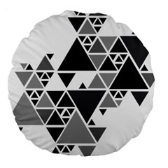 Gray Triangle Puzzle Large 18  Premium Round Cushions by Mariart