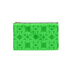 Green Magenta Wallpaper Seamless Pattern Cosmetic Bag (small)