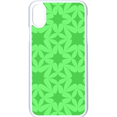 Green Magenta Wallpaper Seamless Pattern Apple Iphone X Seamless Case (white)