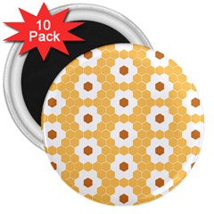 Hexagon Honeycomb 3  Magnets (10 Pack)  by Mariart