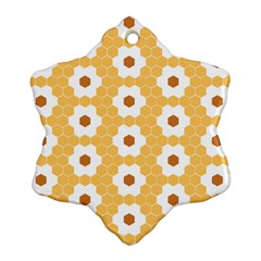 Hexagon Honeycomb Snowflake Ornament (two Sides) by Mariart