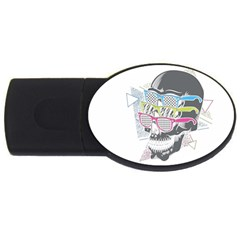 Illustration Skull Rainbow Usb Flash Drive Oval (2 Gb)