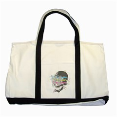 Illustration Skull Rainbow Two Tone Tote Bag