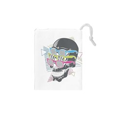 Illustration Skull Rainbow Drawstring Pouch (xs)