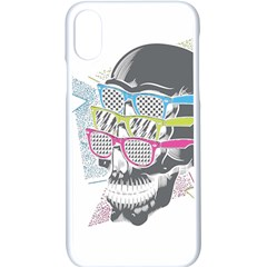 Illustration Skull Rainbow Apple Iphone X Seamless Case (white) by Mariart