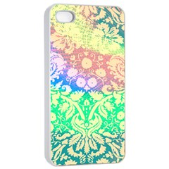 Hippie Fabric Background Tie Dye Apple Iphone 4/4s Seamless Case (white) by Mariart