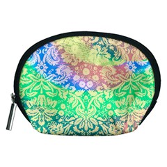 Hippie Fabric Background Tie Dye Accessory Pouch (medium)