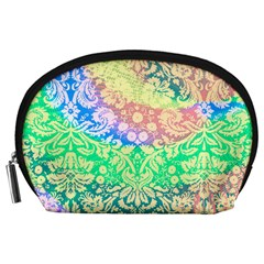 Hippie Fabric Background Tie Dye Accessory Pouch (large) by Mariart