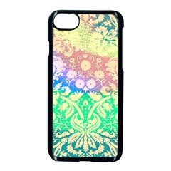 Hippie Fabric Background Tie Dye Apple Iphone 7 Seamless Case (black)