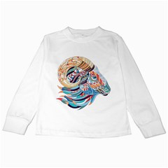 Goat Sheep Ethnic Kids Long Sleeve T Shirts by Mariart