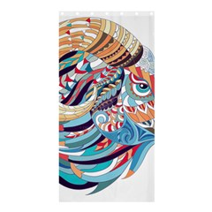 Goat Sheep Ethnic Shower Curtain 36  X 72  (stall)  by Mariart