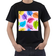 Leaves Background Beautiful Men s T Shirt (black)