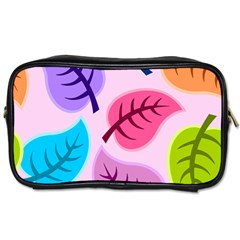 Leaves Background Beautiful Toiletries Bag (two Sides)
