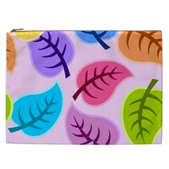 Leaves Background Beautiful Cosmetic Bag (xxl)