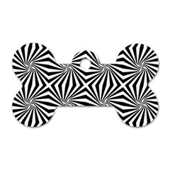 Line Stripe Pattern Dog Tag Bone (one Side) by Mariart