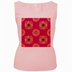 Morroco Tile Traditional Women s Pink Tank Top