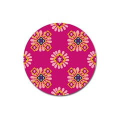 Morroco Tile Traditional Magnet 3  (round) by Mariart