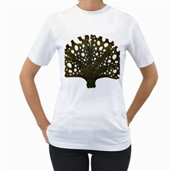 Leaf Tree Women s T Shirt (white) (two Sided) by Mariart
