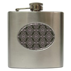 Line Geometry Hip Flask (6 Oz) by Mariart