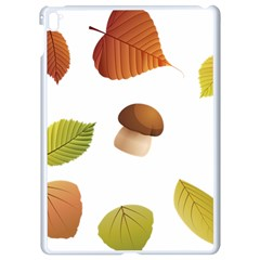 Leaves Mushrooms Apple Ipad Pro 9 7   White Seamless Case