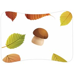 Leaves Mushrooms Velour Seat Head Rest Cushion
