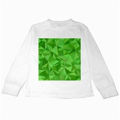Mosaic Tile Geometrical Abstract Kids Long Sleeve T Shirts by Mariart
