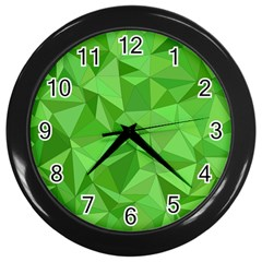 Mosaic Tile Geometrical Abstract Wall Clock (black)