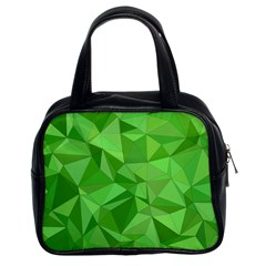 Mosaic Tile Geometrical Abstract Classic Handbag (two Sides)
